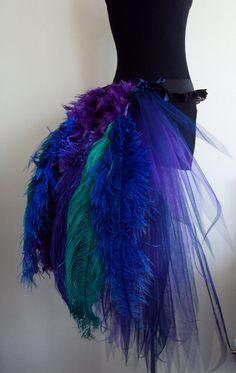 French Navy Blue Purple Peacock  Burlesque Tutu skirt size 4 -10 U.S. 6 -12 U.K.. $75.00, via Etsy.