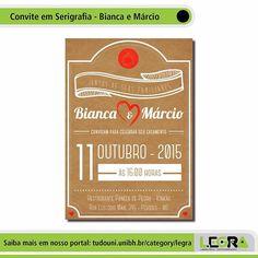 Produções #Legra | Convite de Casamento em Serigrafia - Bianca e Márcio