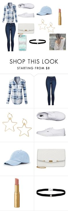 """""""blue dream"""" by jadafleky ❤ liked on Polyvore featuring LE3NO, Topshop, Vans, Sole Society, Too Faced Cosmetics, Amanda Rose Collection and Casetify"""