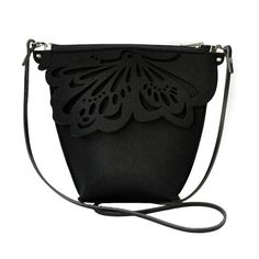 Small felt Bag - with butterfly - black von Beltrani auf DaWanda.com