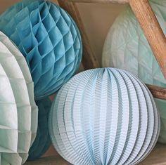 Large Honeycomb Paper Poms Blue Dusky Blue Wedding, Honeycomb Paper, Paper Pom Poms, Wedding Venues, Wedding Ideas, Paper Clip, Event Ideas, Birthday, Garden