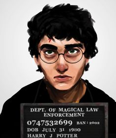banned books mugshots: harry potter