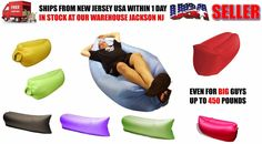 INFLATABLE HANGOUT LAYBACK LAMZAC AIR LOUNGE SOFA CAMPING HIKING SPORTS BED #Unbranded