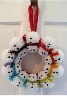 Snowman door hoop