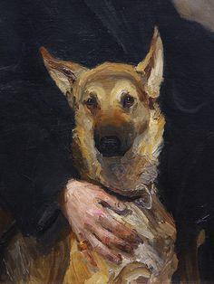Miroslav Kraljevic  Detail from  Self-portrait with Dog