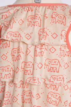 Silky Cotton Jersey in Elephant Print by DesignerFabricStudio
