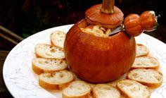 Pumpkin Fondue...Baked in a Pumpkin!