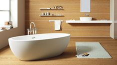 The Feel #bathtub, affording the charm of contemporary sculptures, capable of emphasising the amazing potential of the material, combining elegant design with the feeling of natural stone.