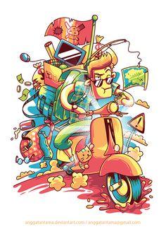 As ilustrações vetoriais super coloridas de Angga Tantama