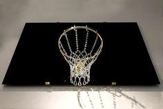 basketball chandelier