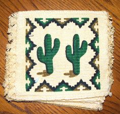 set of 6 absorbent cactus coasters for just 9.95  Free shipping  #coasters #cactus #southwest