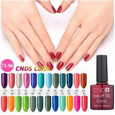 CNDS Vernizes Gel Revestimento UV Nail Polish Long-lasting Soak-off LEVOU UV Gel 156 Cores 10 ML Nail Art Polonês Gel Prego laca