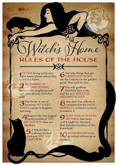 Witch House Rules