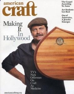 Nick Offerman of NBCs Parks and Recreation and boat builder.