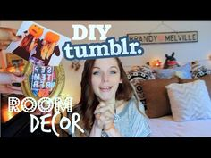 DIY: Tumblr Fall Room Decor!♡ - YouTube