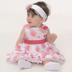 vestido para bebês - rosa - miqueritatransforme a sua pequena, em uma verdade princesa com o vestido rosa e branco!