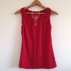 Merona red tank-top Merona red tank-top. Size small, necklace is not included or for sale. Bundle to save! Merona Tops Tank Tops