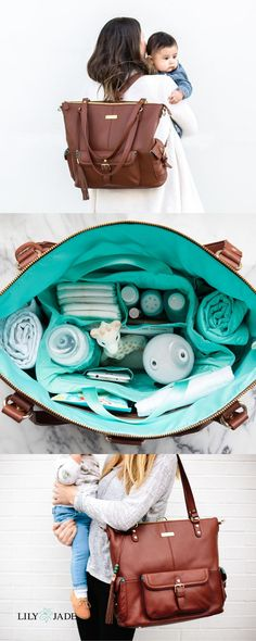 Lily Jade bags are gorgeous and perfect for organization. Each bag is made so that your hands are free to hold on to what really matters. Made of full grain leather Lily Jade bags are for baby years and beyond. - Diapers - Ideas of Diapers Baby Diaper Bags, Diaper Bag Backpack, Baby Kids, Baby Boy, Carters Baby, Baby Bags For Mom, Breastfeeding Accessories, Baby Skin Care, Baby Necessities