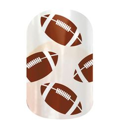 Footballs on Clear nail wraps by Jamberry Nails. Just click to link to my site and order. Arrives in 7-10 days