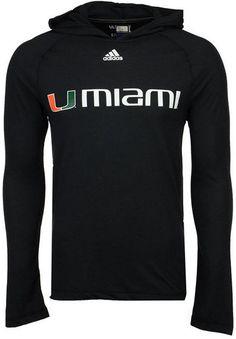 adidas Men's Miami Hurricanes Mark My Words Long Sleeve Hooded T-Shirt