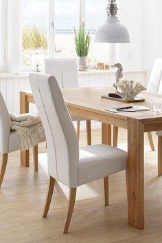 Perfekt Home Affaire Esstisch »Rustic« Aus Massiver Eiche