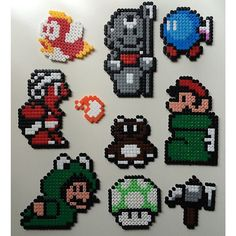 Super Mario hama beads by lottams