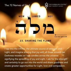 The 72 Names of God  Sharing the Flame