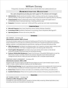 Administrative assistant resume - This sample resume for a midlevel administrative assistant shows how you can emphasize your office skills and proven success in administrative roles – Administrative assistant resume Manager Resume, Job Resume, Best Resume, Resume Tips, Cv Tips, Resume Skills, Teaching Resume Examples, Good Resume Examples, Sample Resume Templates