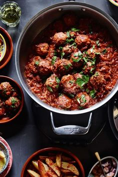Albóndigas | Excellent as a main course when served with bread for sopping up the tomato sauce, albóndigas (meatballs) are also great served as an appetizer or part of a spread of Spanish tapas.