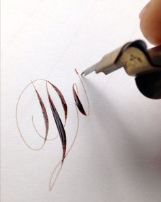 Calligraphy Video, Pens, Hand Lettering, Script, Envelope, Silver Rings, David, Learning, Big