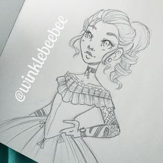 regram @winklebeebee May 23rd #dailydrawing [Tat]. I was listening to this podcast about tattoos and apparently in the 19th century it wasn't unheard of for European nobility to have tattoos as a sign of wealth and power. Most of the women had small or hidden tattoos but I love the idea of a Victorian lady with a full sleeve tattoo  #art #artstagram #drawing #illustration #sketch #sketchbook #sketching #doodle #pencilsketch #victorian #tattoo #design #instaart #igdraws #creative_instaarts…