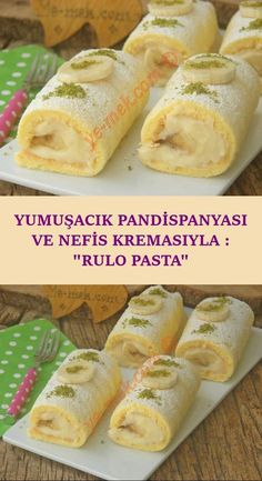 With its Squishy Sponge Cake and Yummy Cream: Roll Cake-Yumuşacık Pandispanyası Ve Nefis Kremasıyla : Rulo Pasta A soft portion cake like cotton, which you will pass while eating … - Cakes To Make, How To Make Cake, Food To Make, Dessert Cake Recipes, Lemon Desserts, Easy Desserts, Dessert Simple, Pasta Recipes, Crockpot Recipes