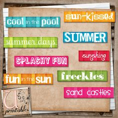 U printables by RebeccaB...she has really cute downloadable embellishments on her blog.