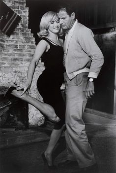 Marilyn Monroe and Eli Wallach on the set of The Misfits, 1960.