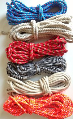 Coil rope bowl tutorial and materials. Woven rope bowl making kit and instructions