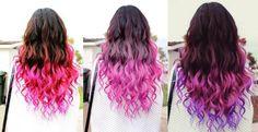 Pink dip dye hairstyles