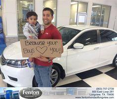 #HappyAnniversary to Britney Armas on your 2014 #Honda #Accord Sedan from Everyone at Fenton Honda of Longview!