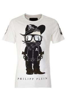 Must have tee with funny printed bandit character. Must have piece to complete your streetstyle with class.  Browse the complete Philipp Plein collection online at Boudi UK. Philipp Plein is pure luxury with his latest Menswear Collection embodying the designers rebel streak, and glamorous ideals making thePhilipp Plein brand instantly recognisable. FW14-HM342178