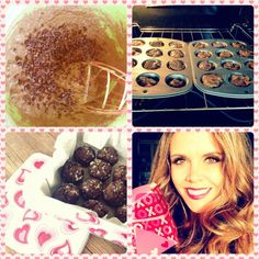 Healthy Chocolate Craving Muffins, Great for all Meals on The Tone It Up Nutrition Plan! From Karena and Katrina at www.toneitup.com