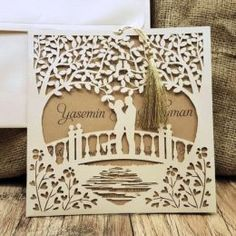 Beautiful Tree Rustic Invitation for Wedding  ♥ Custom Made with your text