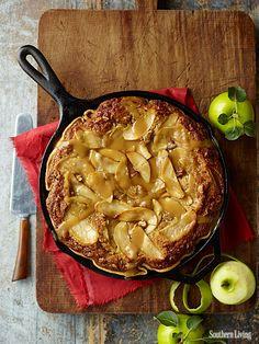 Carmel apple blondie pie