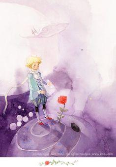 «Маленький принц», иллюстрации Kim Min Ji.