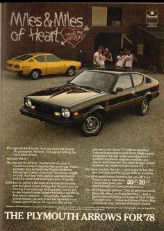 1978 Plymouth Arrow in Playboy Magazine on Dec '77