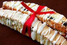 Cherry, Almond & White Chocolate Biscotti Recipe #foodrecipes