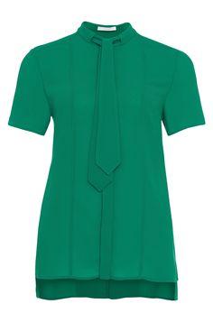 'Bylana'   Short Sleeve Removable-Tie Blouse