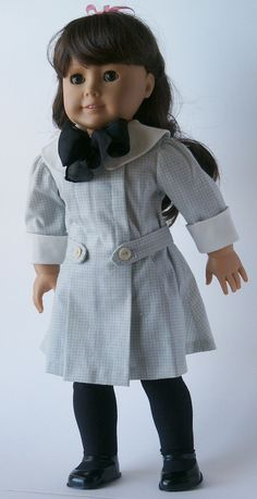 1904 Gingham Dress  Sewing Pattern Fits 18 Inch American Girl Doll No 40. $8.00, via Etsy.