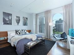 Blake lively's bedroom in her Manhattan penthouse.