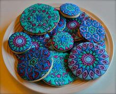 Mandala cookies by Craft Me a Cookie