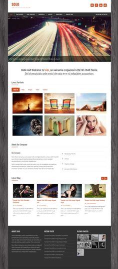Solo Business WordPress Theme : Zigzagpress http://www.awordpressthemesreview.com/solo-review-zigzagpress/ #WordPress
