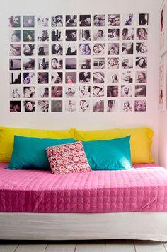 Painel de Fotos em parede branca